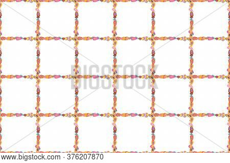 Doodles Pattern Style. Seamless Pattern. Decorative Vintage Frames And Borders. Raster. Border Desig