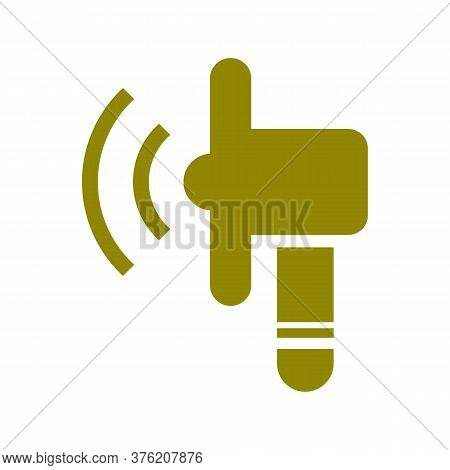 Loud Audio Vector Icon On White Background. Flat Vector Loud Audio Icon Symbol Sign From Modern User