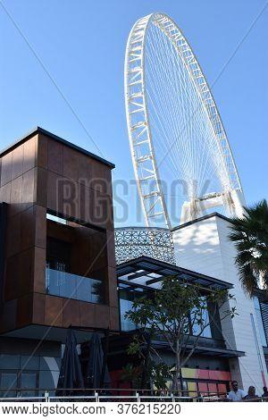 Dubai, Uae - Feb 15: Ain Dubai (dubai Eye) Ferris Wheel At Bluewater Island In Dubai, Uae, As Seen O