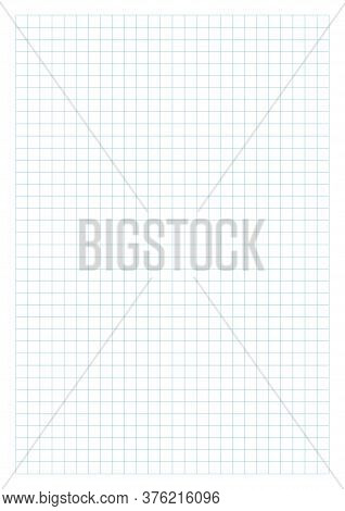 Notebook Squared Paper Sheet. Groups Of Lines. Exercise Book Page. Perfect For Planner, Notebook, Sc
