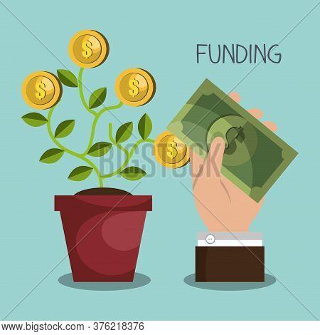 Funding Concept Design, Vector Illustration Eps10 Graphic