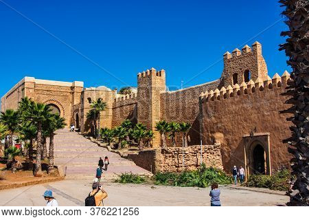 Rabat, Morocco - Oct 13, 2019: Kasbah Of The Udayas Also Spelled Oudaias Or Oudayas - The South-west