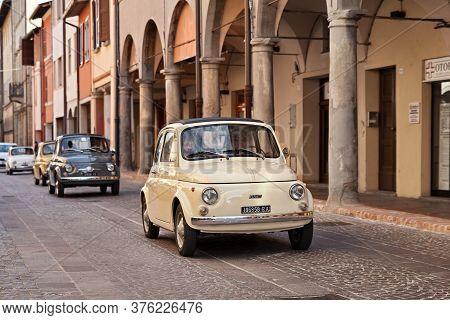 Vintage Fiat 500 R (1973) In Classic Car Rally Citta Di Meldola, On October 8, 2017 In Meldola Fc, I