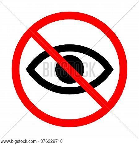 Sensitive Content Icon, Eye Icon, No Viewing Vector, Eye Icon Vector, Eye Icon Isolated, Eye Vector