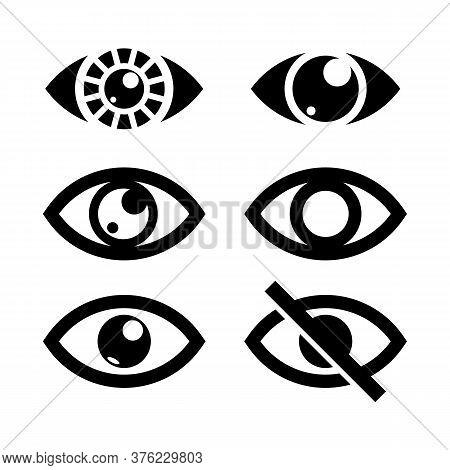 Eye Icon Collection, Set Of Eye Icon Isolated On White Background, Eye Icon Vector Design, Eye Icon