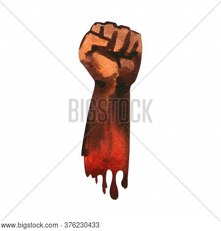 Clenched Fist Held In Protest, Hand Popular Protest, Proletarian Independence Protest Symbol, Revolu