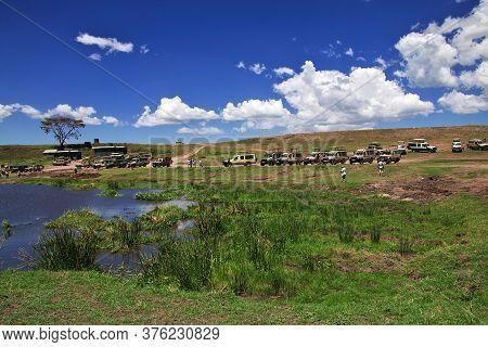 Ngorongoro / Tanzania - 06 Jan 2017: Lake On Safari In Kenia And Tanzania, Africa
