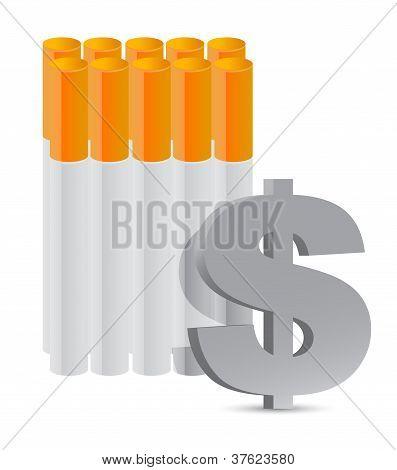 Cigarette An Expensive Habit Concept
