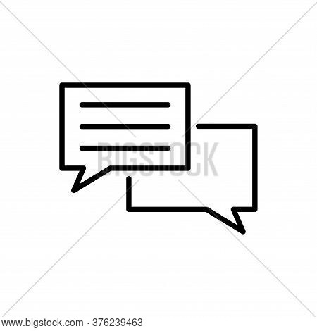 Speech Bubble Thin, Line Icon On White Background. Web Sign Kit Of Comic Tell. Communication Chat Ic