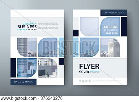 Annual Report Brochure Flyer Design, Leaflet Presentation, Book Cover Templates. Layout In A4 Size.
