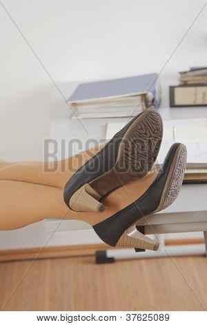 businesswoman realaxing on a break