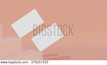 Minimal Business Card Mockup On The Staircase