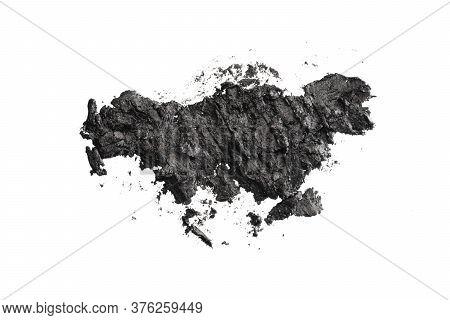 Smashed Dark Eyeshadows Isolated On White Background
