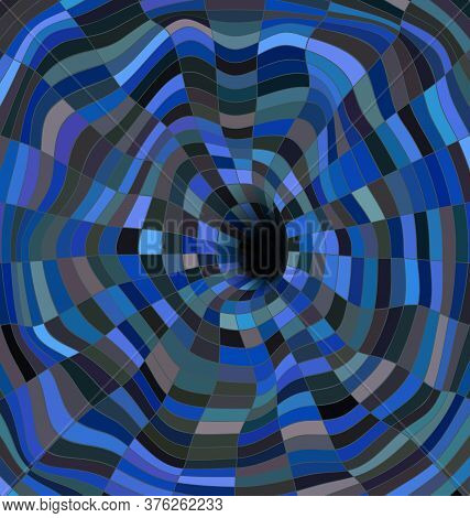Blue Colored Vector Illustration Abstract Black Hole
