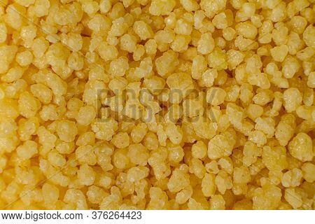 Macro Photo Of Couscous Grits. Wheat Grits.