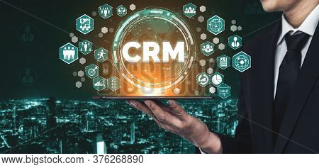 Crm Customer Relationship Management For Business Sales Marketing System Concept Presented In Futuri
