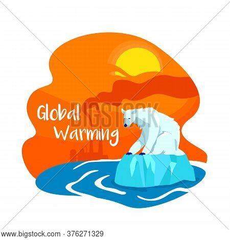 Climate Change From Pollution 2d Vector Web Banner, Poster. Global Warming Phrase. Factory Emission