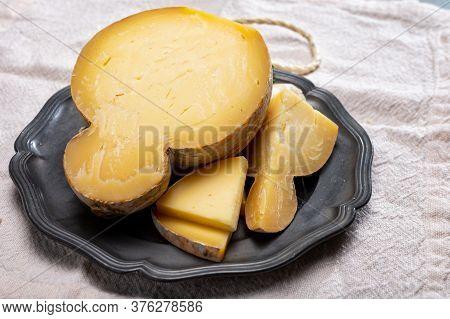 Italian Semi Hard Matured Caciocavallo Cheese, Handmade And Aged In Natural Underground Caves In Apu