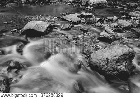 Waterfalls In Mullerthal Luxemburg, Forest And Waterfalls
