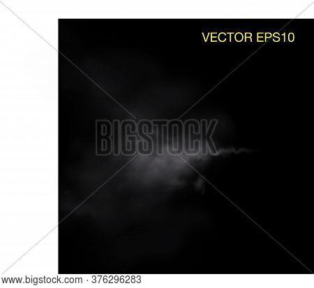 Vector Of Realistic Cigarette Smoke Or Fog Or Haze. Vector Isolated Realistic Smoke Waves.
