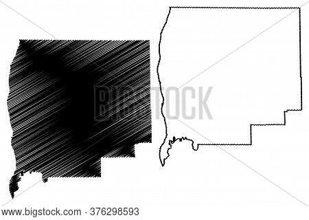 Greene County, Illinois (u.s. County, United States Of America, Usa, U.s., Us) Map Vector Illustrati