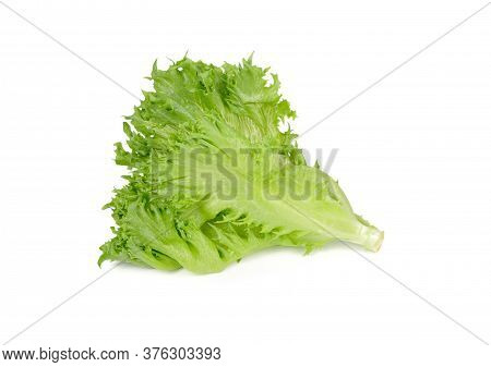 Fresh Frillice Iceberg Lettuce On White Background
