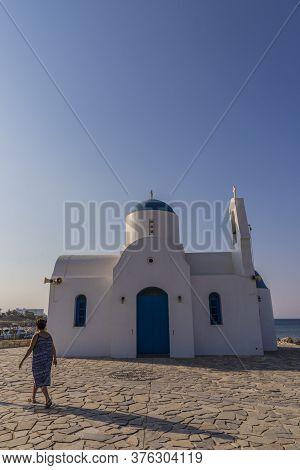 August 2019. Paralimni Cyprus. Agios Nikolaos Chapel, Paralimni Cyprus Europe
