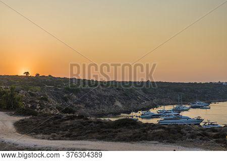 August 2019. Paralimni Cyprus.konnos Bay, Protaras Cyprus Europe