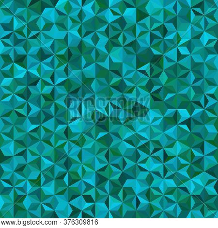 Vector Seamless Abstract Background For Design With Green, Blue Triangles. Vector Illustration