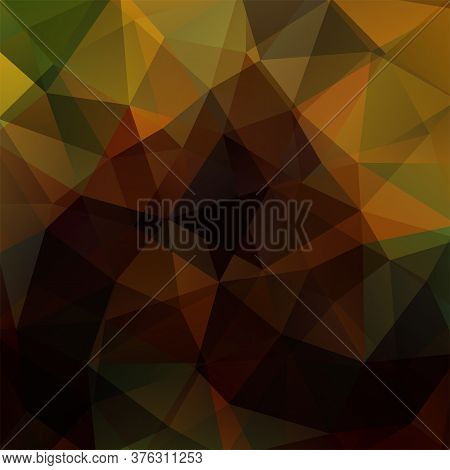 Abstract Brown Mosaic Background. Triangle Geometric Background. Design Elements. Vector Illustratio
