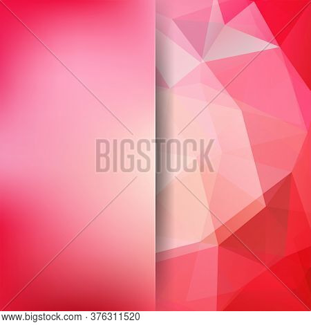 Abstract Background Consisting Of Red, Pink Triangles. Geometric Design For Business Presentations O