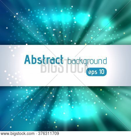 Rays Background With Place For Text. Abstract Motion Blur Background With Power Explosion. Vector Il