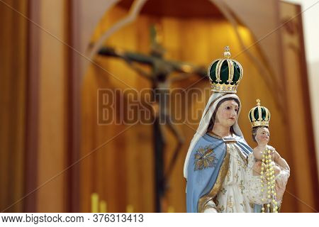 Statue Of The Image Of Our Lady Of The Rosary, The Holy Rosary Or The Most Holy Rosary, One Of The D