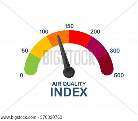 Air Quality Index. Educational Scheme With Excessive Quantities Of Substances Or Gases In Environmen