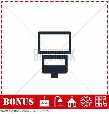 Flush Bulb Icon Flat. Simple Vector Symbol And Bonus Icon