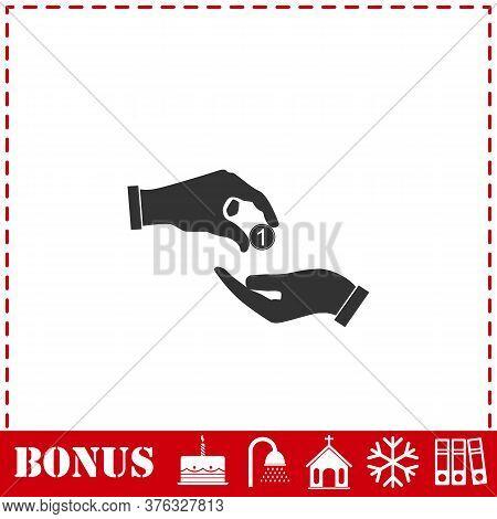 Financial Aid Icon Flat. Simple Vector Symbol And Bonus Icon