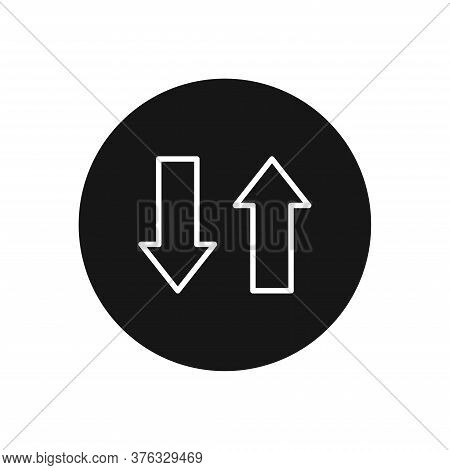 Up Down Icon Isolated On White Background. Up Down Icon In Trendy Design Style For Web Site And Mobi
