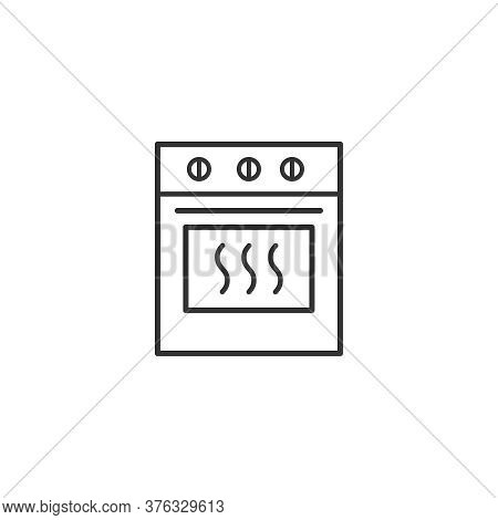 Electric Oven Kitchen Household Domestic Appliances Thin Line Icon Outline Vector Symbol. Gas Oven L