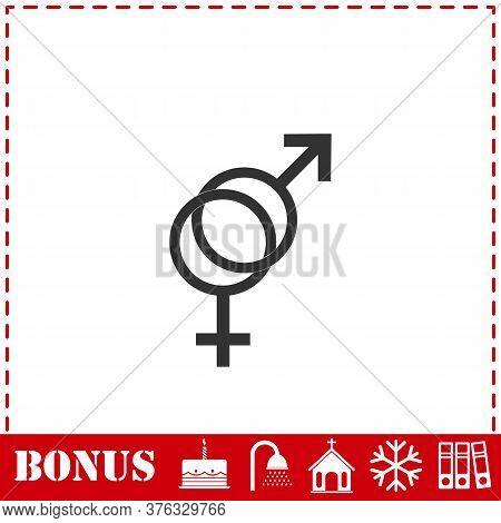 Gender Icon Flat. Simple Vector Symbol And Bonus Icon