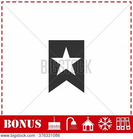 Bookmark Icon Flat. Simple Vector Symbol And Bonus Icon