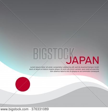 Cover, Banner In The Colors Of Japan. Background - Japan Wavy Flag. Japanese Flag Vector Design For