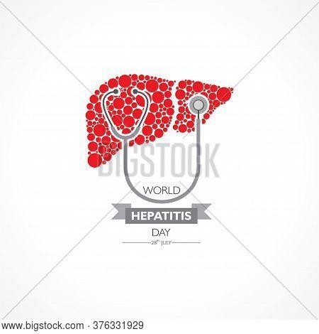 Illustration,poster Or Banner Of World Hepatitis Day Observed On 28 July