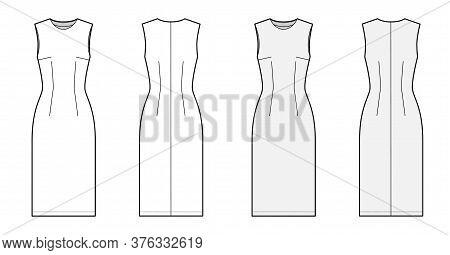 Sheath Dress Vector Photo Free Trial Bigstock