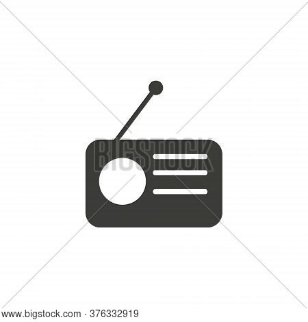Radio Icon Vector, Old Retro Receiver Waves, Tuner Sign Isolated On White Background. Trendy Flat St