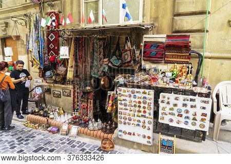 Baku, Azerbaijan - June 20, 2019: Architecture Of The Historic Part Of Baku Icheri Shekher , Azerbai