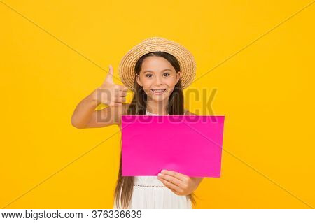 Happy Childhood. Summer Holiday And Vacation. Kid Seasonal Fashion Sales. Carefree Beauty Show Paper