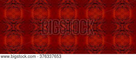 Majestic Floral Tile. Majolica Tiles Print. Vintage Textile Print. Red, White Seamless  Majolica Til