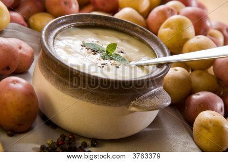 Bowl Of Fresh Potato Soup