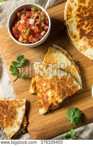 Homemade Vegetarian Quesadilla With Cheese