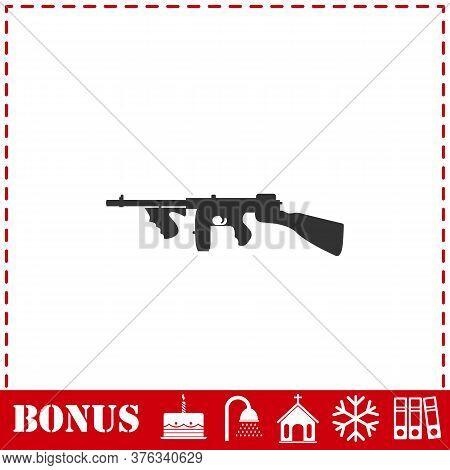 Automatic Rifle Icon Flat. Simple Vector Symbol And Bonus Icon